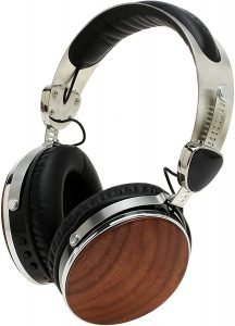 Symphonized Wraith 2.0 Bluetooth Genuine Wood Wireless Headphones with 3.5mm Cable Included for Wired Use